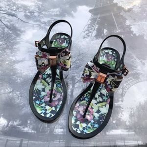 Ted Baker London Effiey Floral Thong Sandals 8/8.5